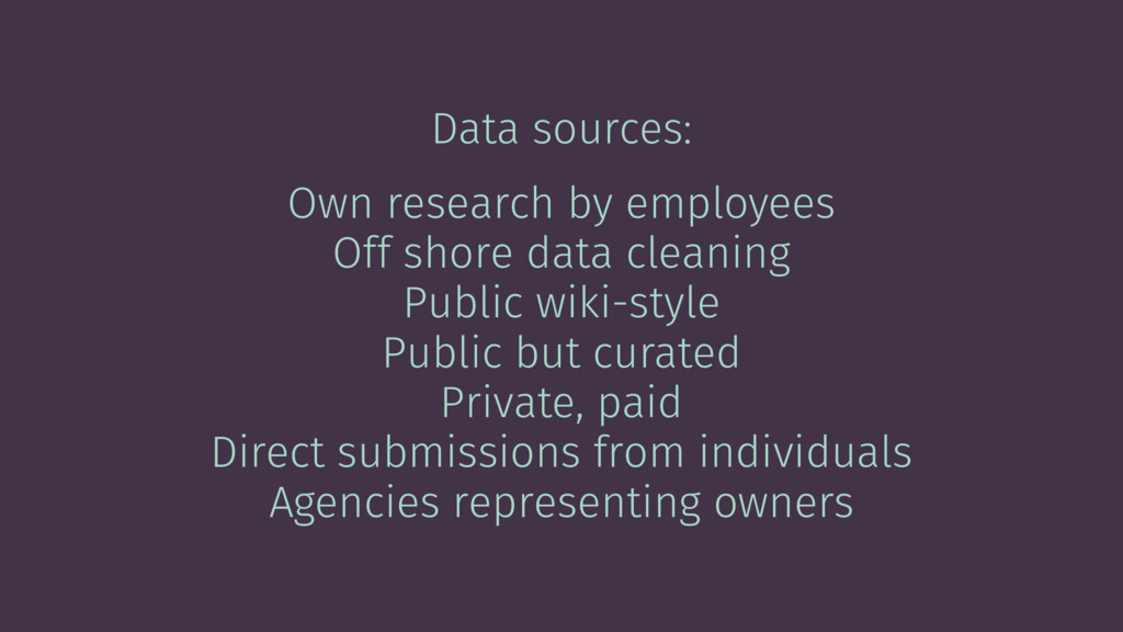 Data sources: Own research by employees Off sho...