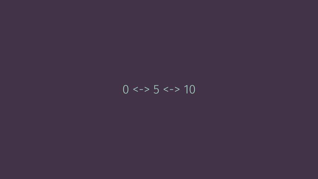 0 <-> 5 <-> 10