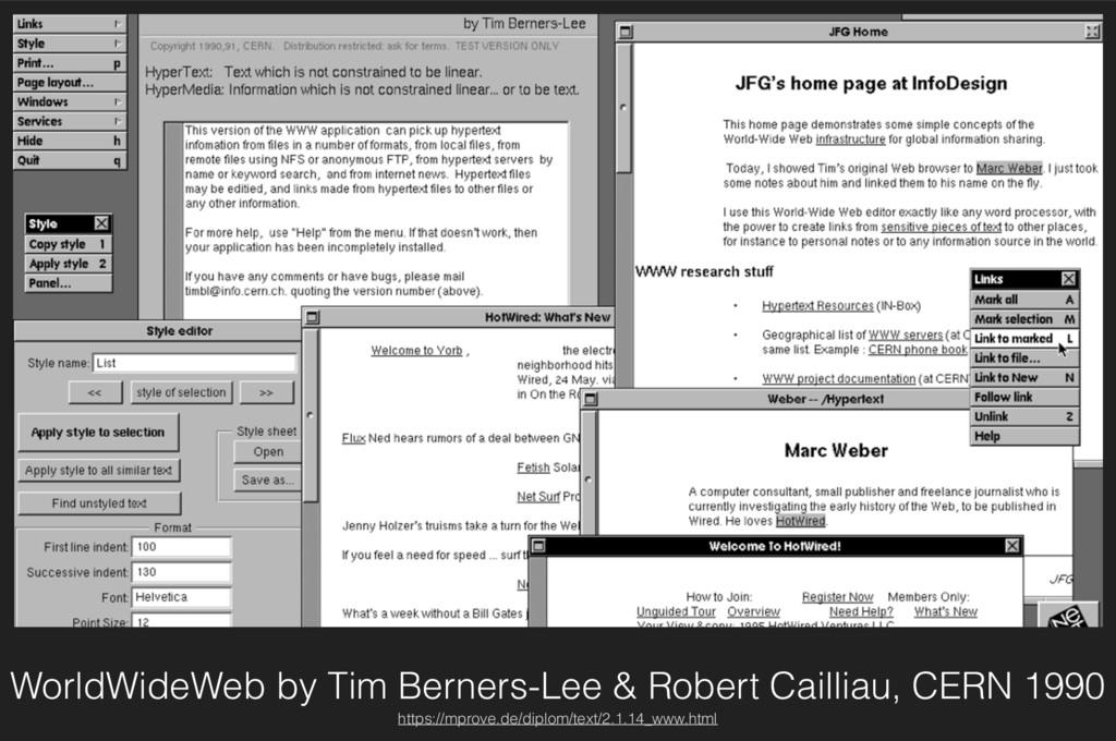WorldWideWeb by Tim Berners-Lee & Robert Cailli...