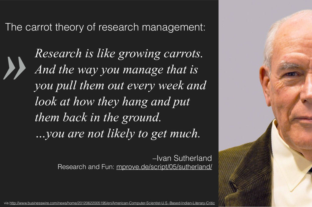 » –Ivan Sutherland
