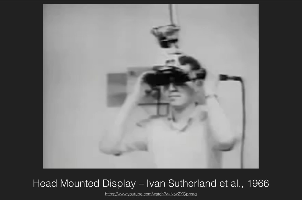 Head Mounted Display – Ivan Sutherland et al., ...