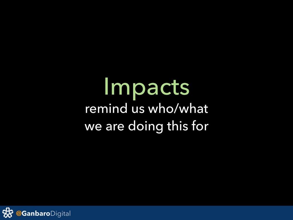 @GanbaroDigital Impacts remind us who/what we a...