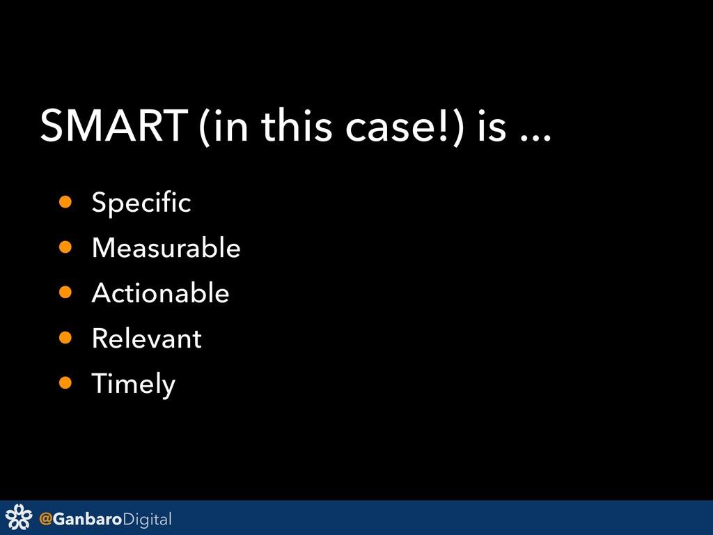 @GanbaroDigital SMART (in this case!) is ... • ...