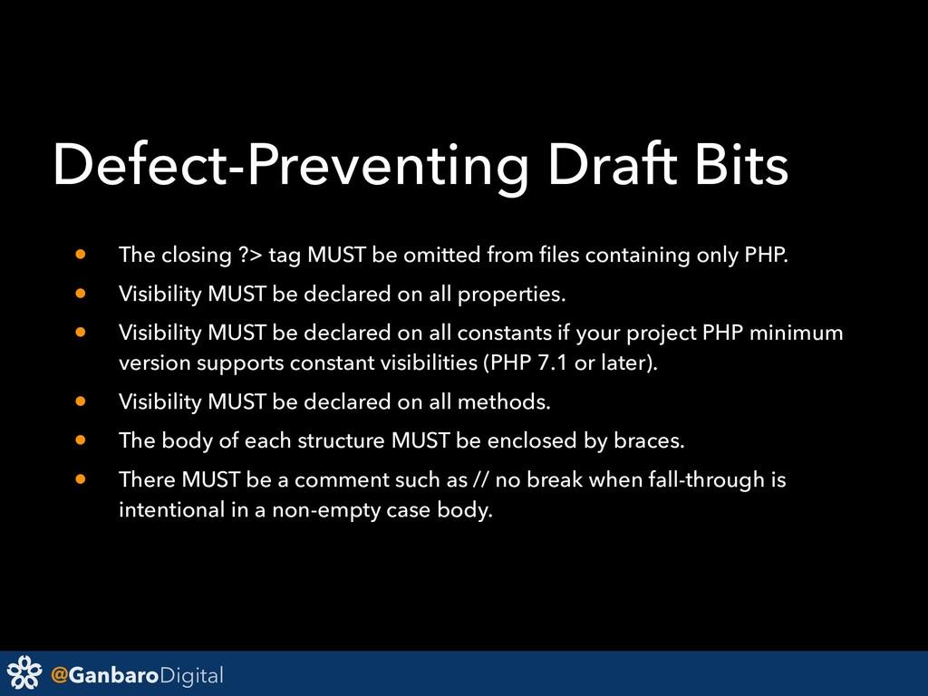 @GanbaroDigital Defect-Preventing Draft Bits • ...