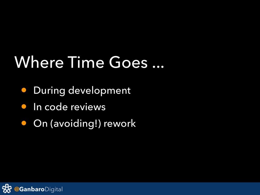@GanbaroDigital Where Time Goes ... • During de...