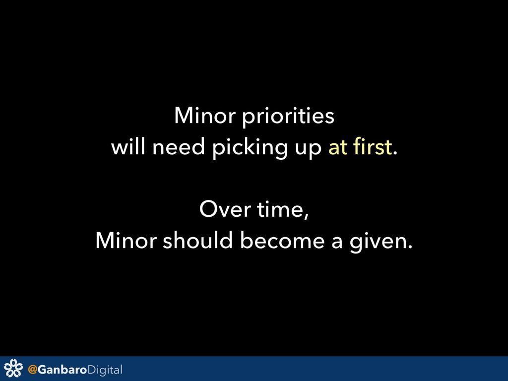 @GanbaroDigital Minor priorities will need pick...