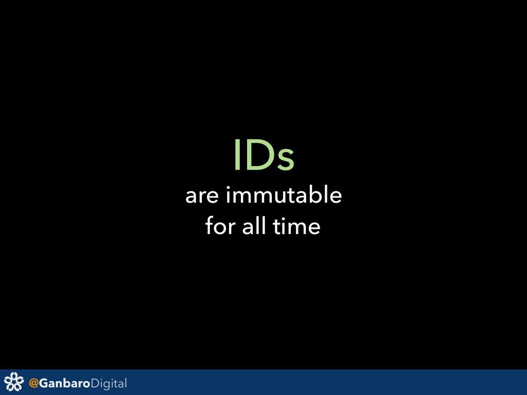 @GanbaroDigital IDs are immutable for all time