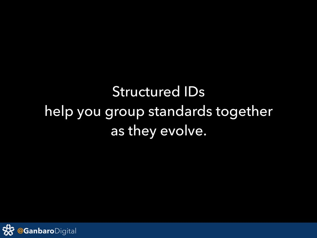 @GanbaroDigital Structured IDs help you group s...