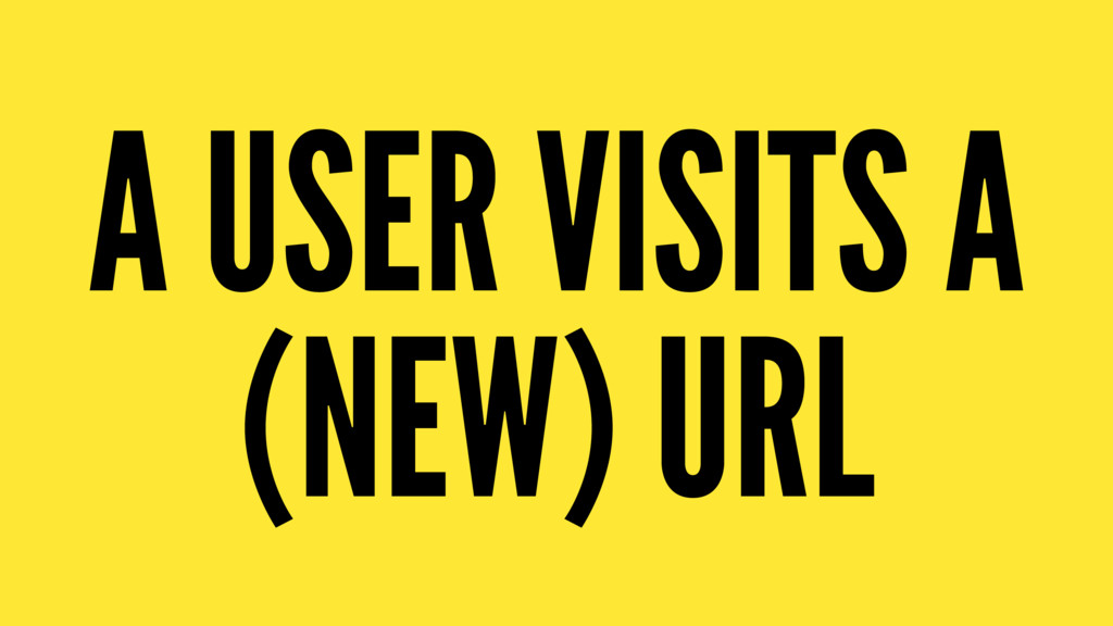 A USER VISITS A (NEW) URL