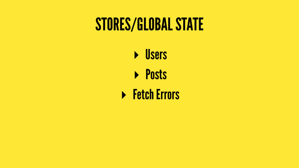 STORES/GLOBAL STATE ▸ Users ▸ Posts ▸ Fetch Err...