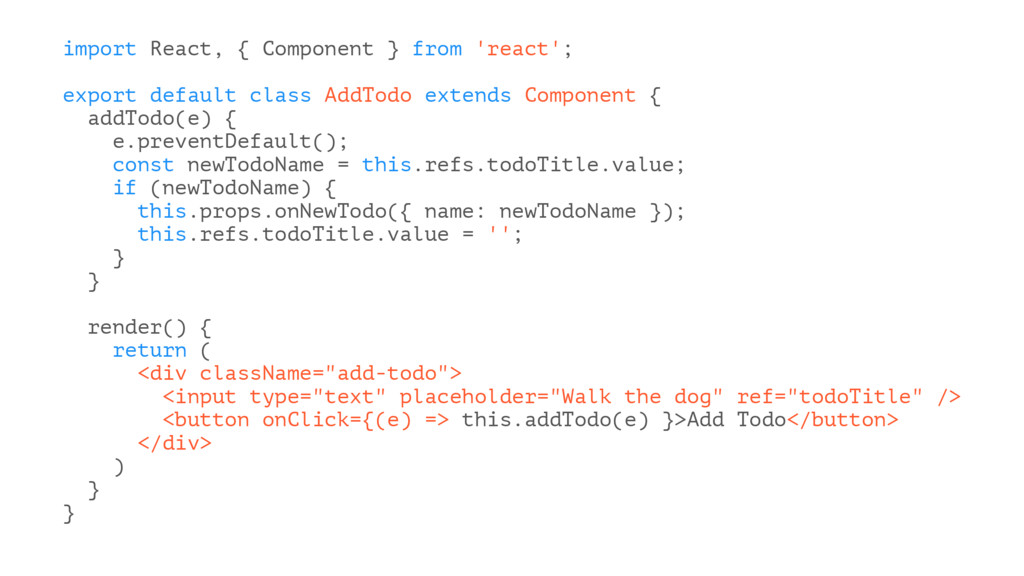 import React, { Component } from 'react'; expor...