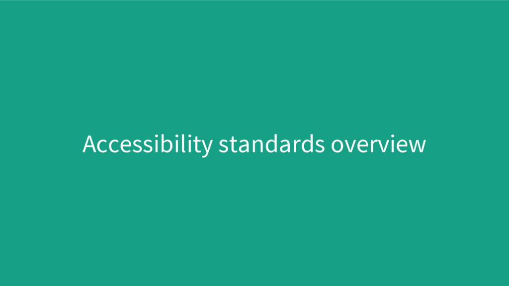Accessibility standards overview