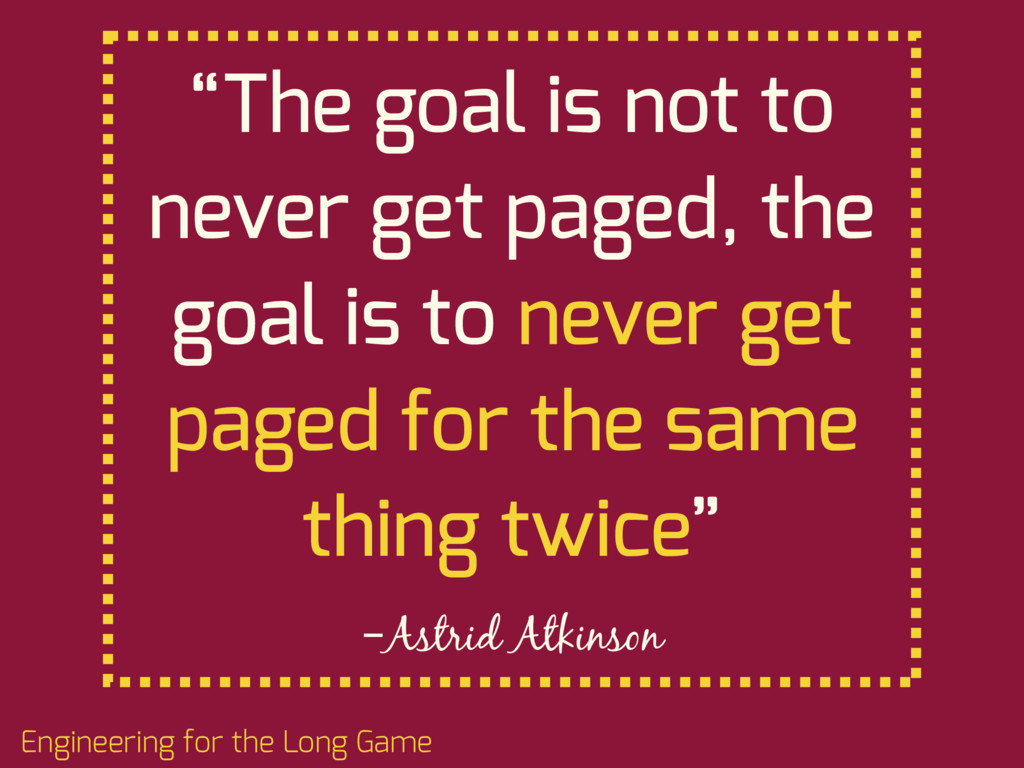 """–Astrid Atkinson """"The goal is not to never get ..."""