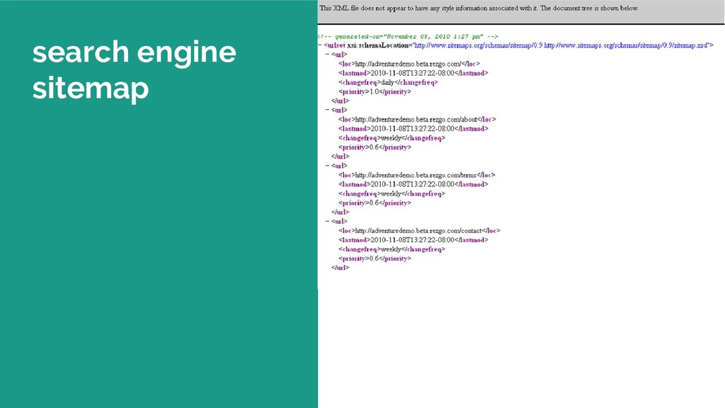 search engine sitemap