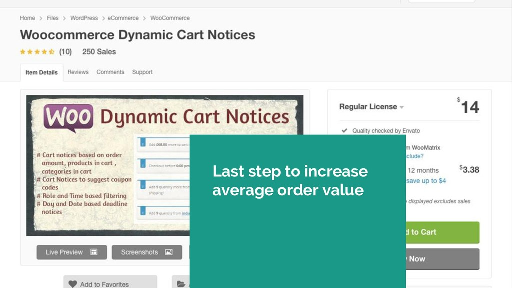 Last step to increase average order value