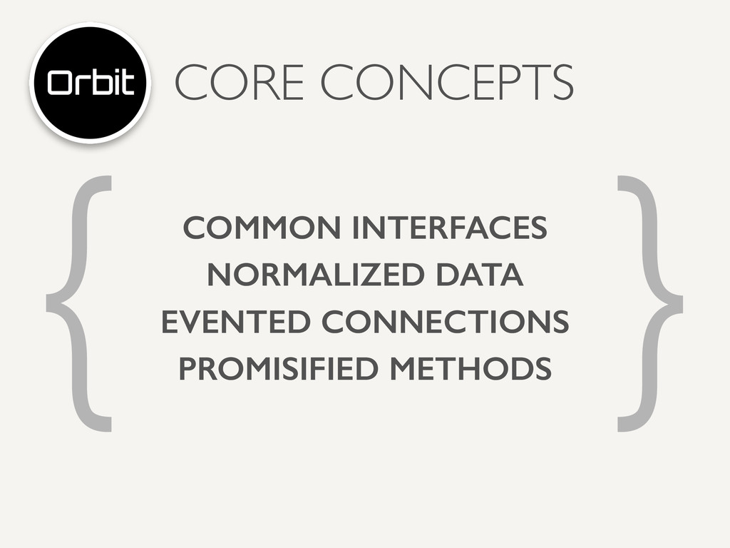 CORE CONCEPTS { } COMMON INTERFACES NORMALIZED ...