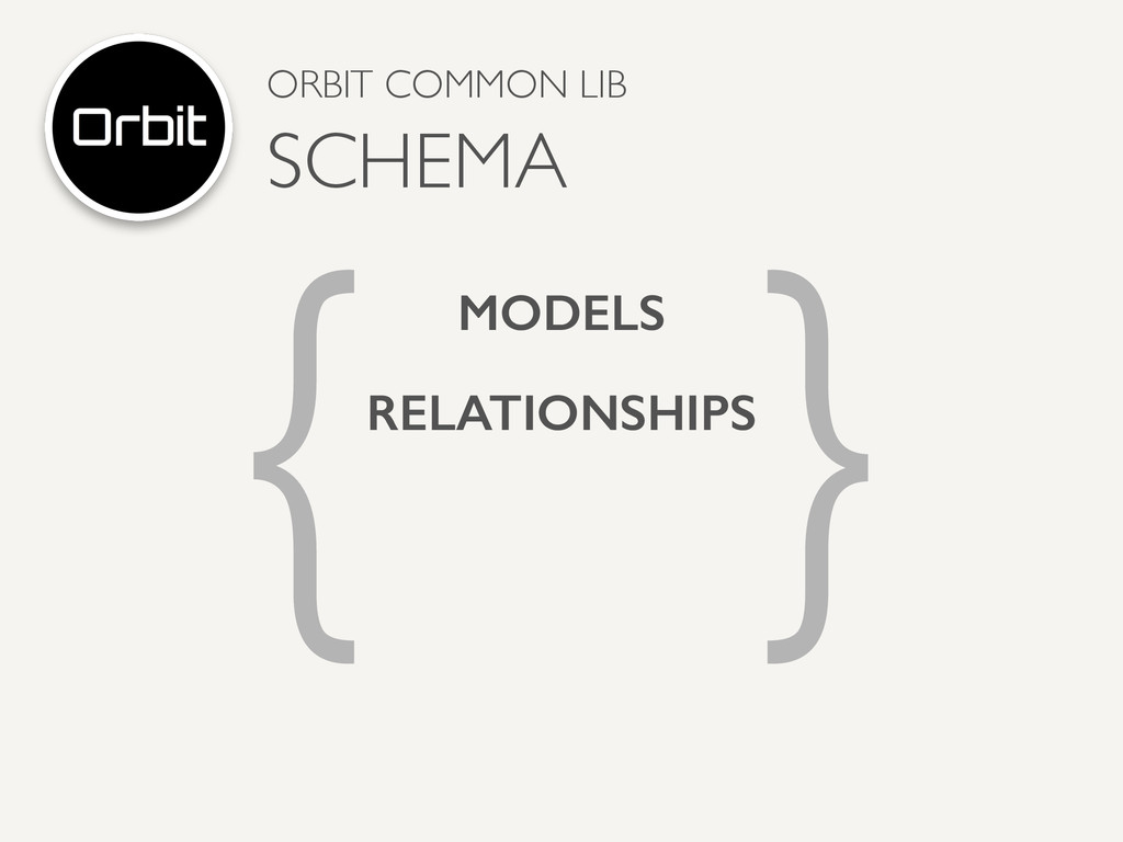 { } MODELS RELATIONSHIPS ORBIT COMMON LIB  SCH...