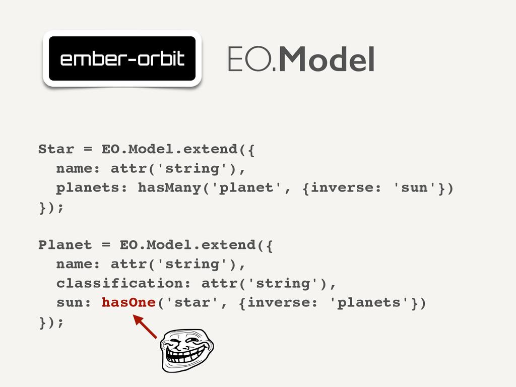 Star = EO.Model.extend({! name: attr('string'),...