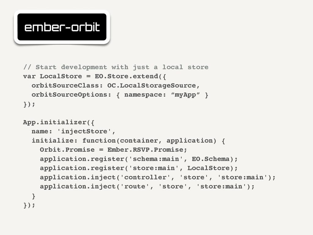 ember-orbit // Start development with just a lo...