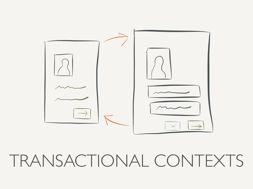 TRANSACTIONAL CONTEXTS