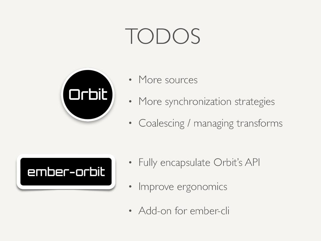 TODOS ember-orbit • Fully encapsulate Orbit's A...