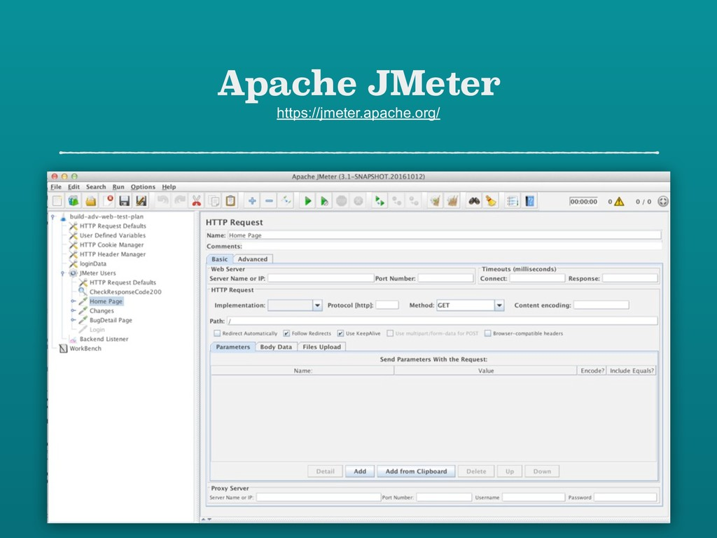 Apache JMeter https://jmeter.apache.org/