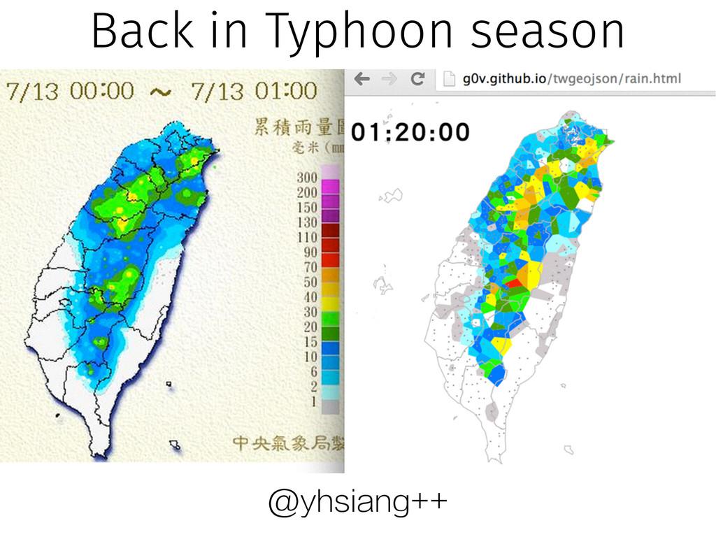 @yhsiang++ Back in Typhoon season