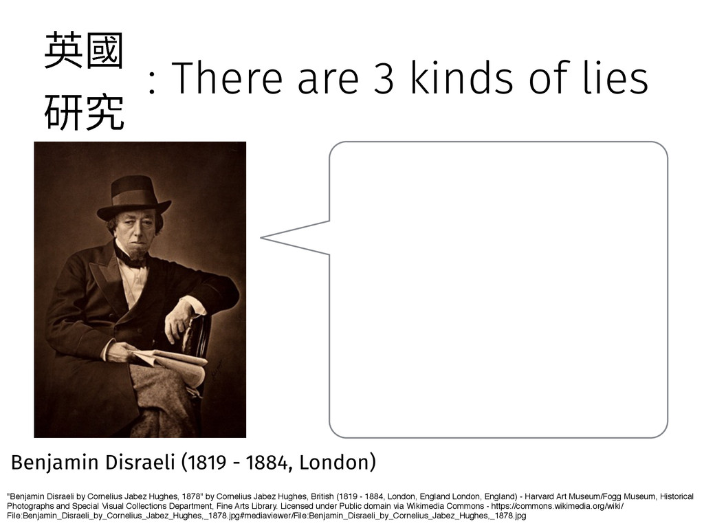 """: There are 3 kinds of lies """"Benjamin Disraeli ..."""