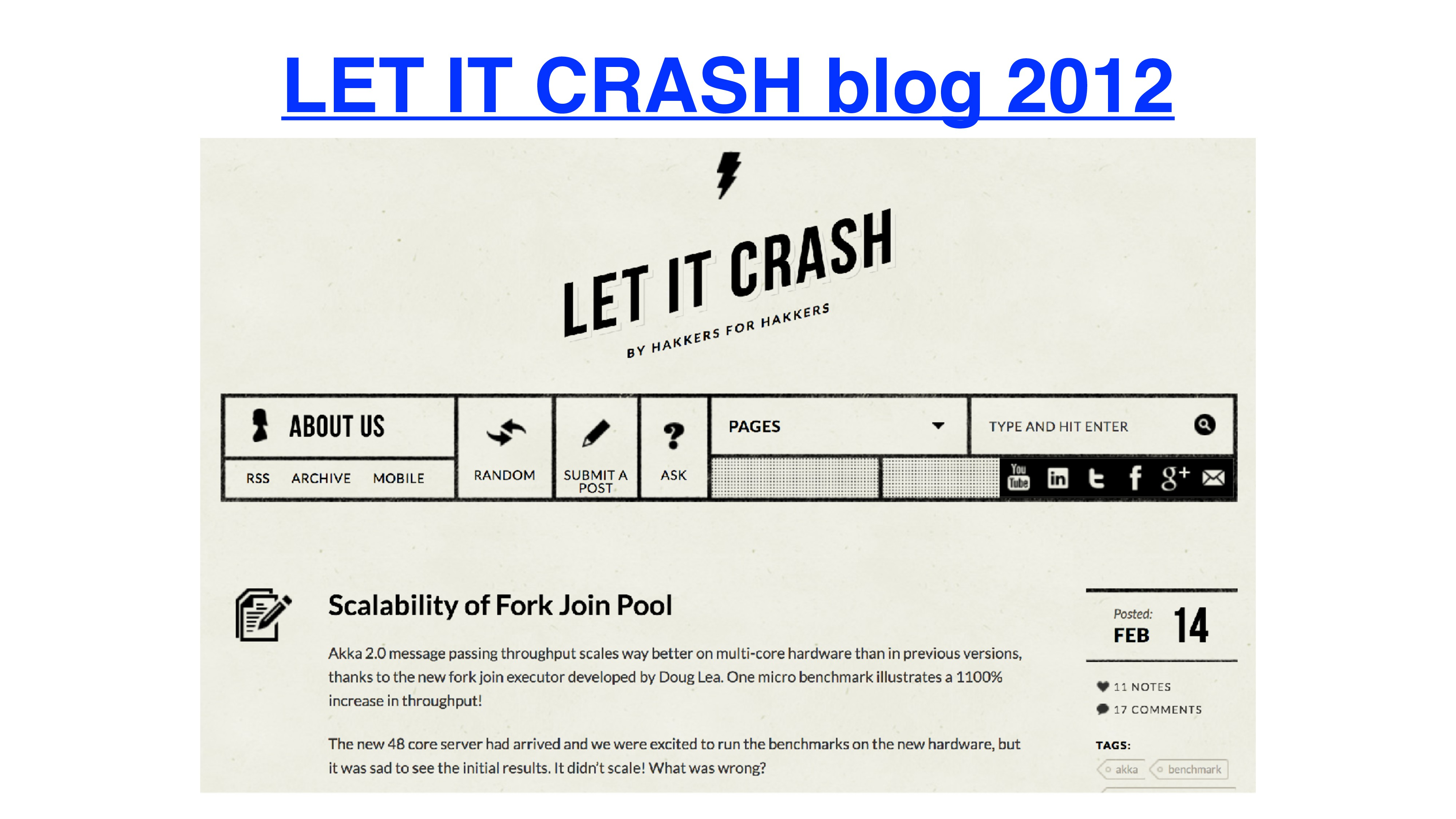 LET IT CRASH blog 2012