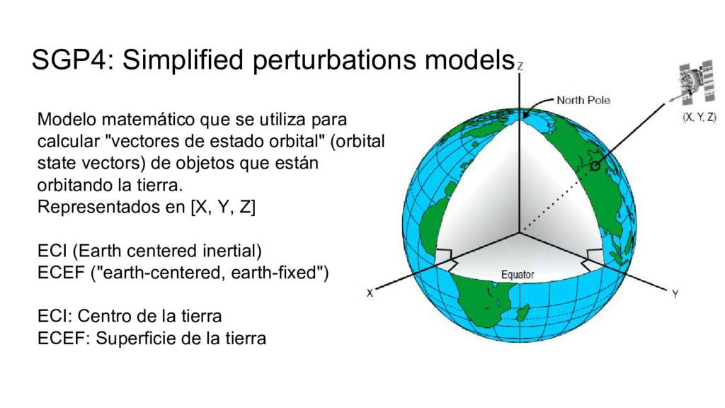 SGP4: Simplified perturbations models Modelo ma...