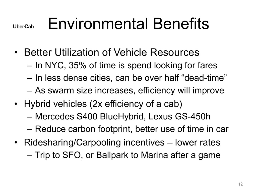 Environmental Benefits • Better Utilization of ...