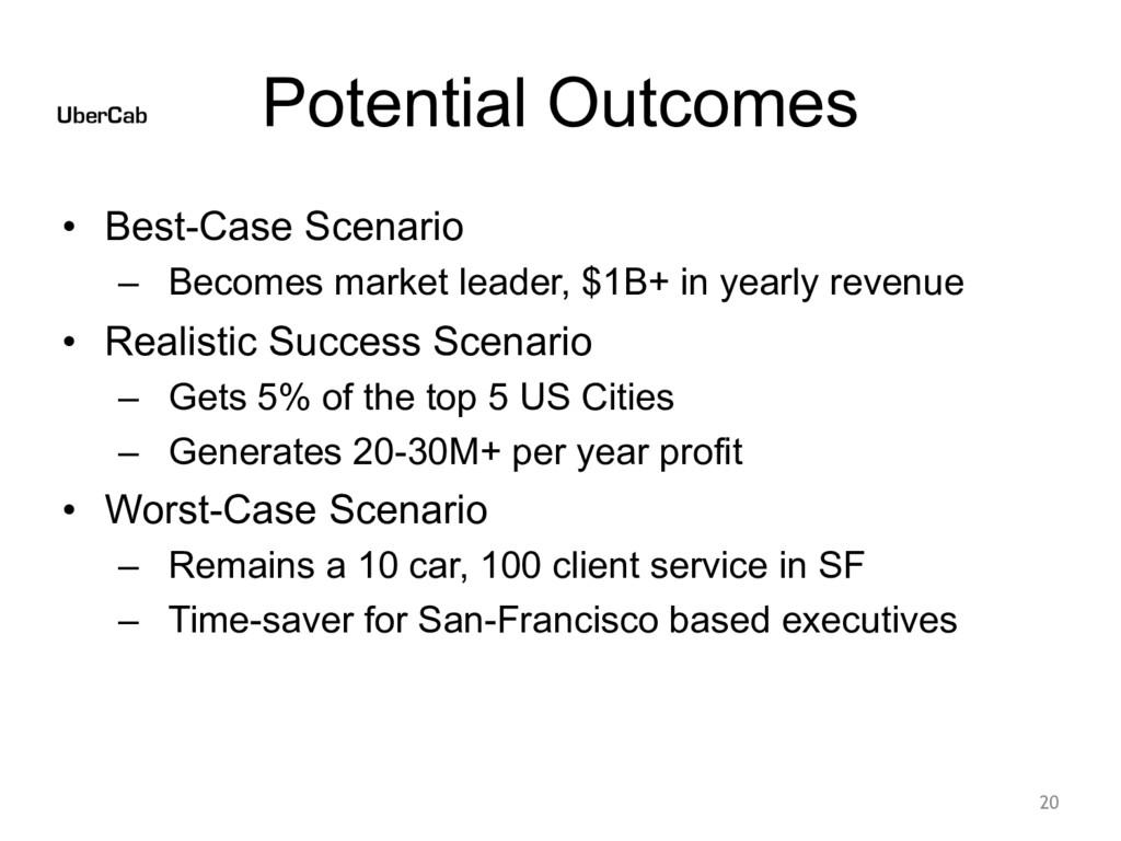 Potential Outcomes • Best-Case Scenario – Becom...