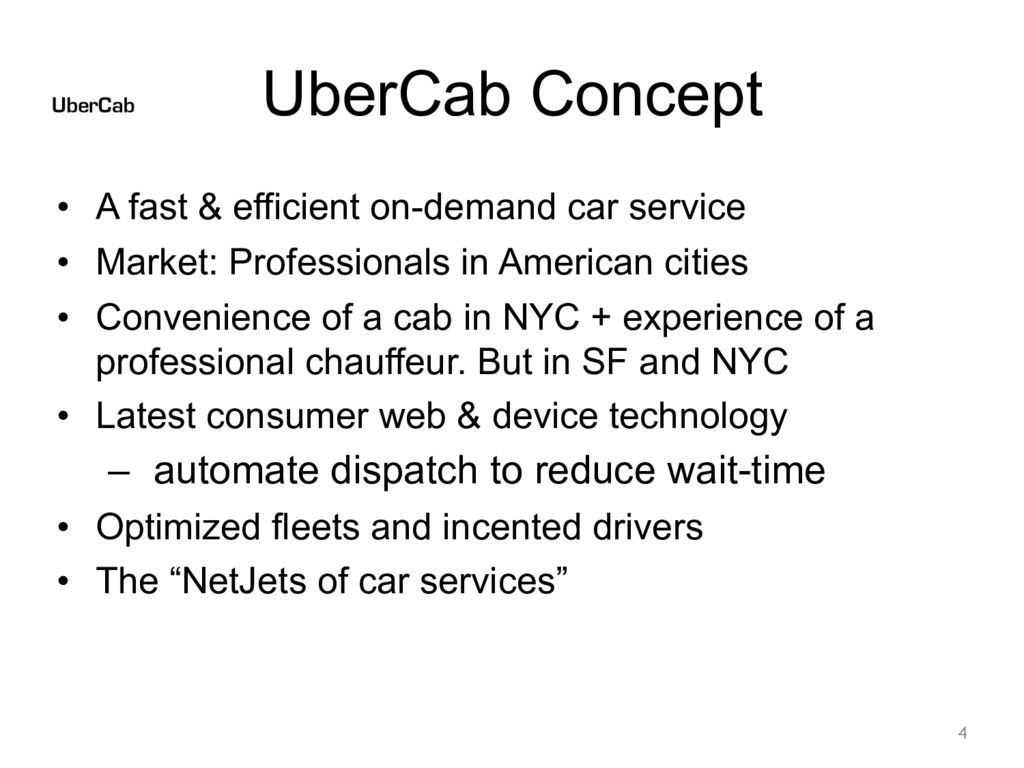 UberCab Concept • A fast & efficient on-demand ...