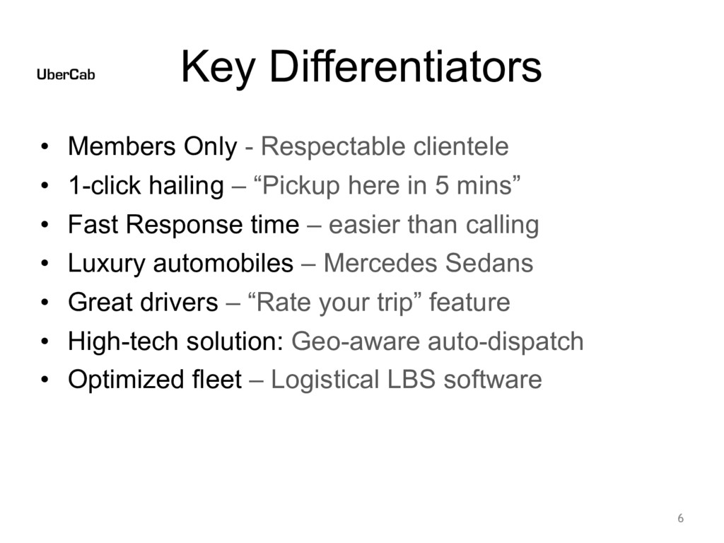 Key Differentiators • Members Only - Respectabl...