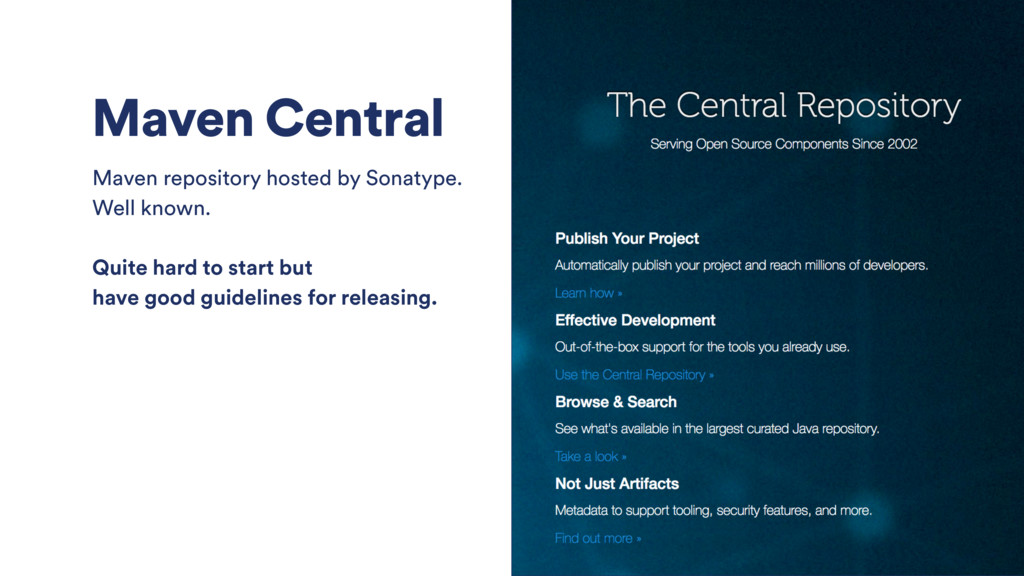 Maven Central Maven repository hosted by Sonaty...