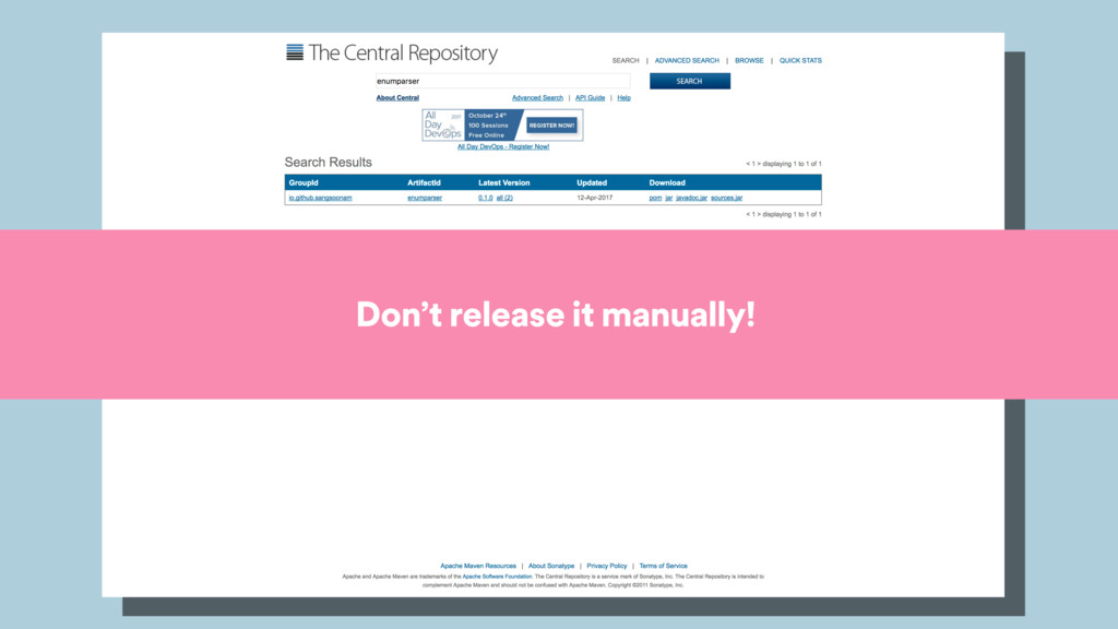Don't release it manually!