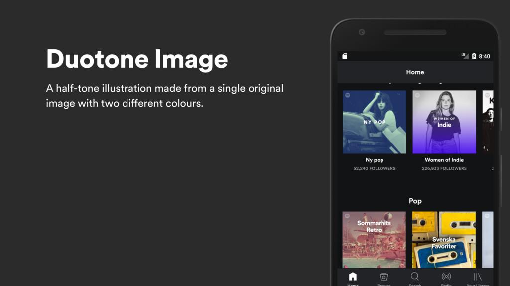 Duotone Image A half-tone illustration made fro...