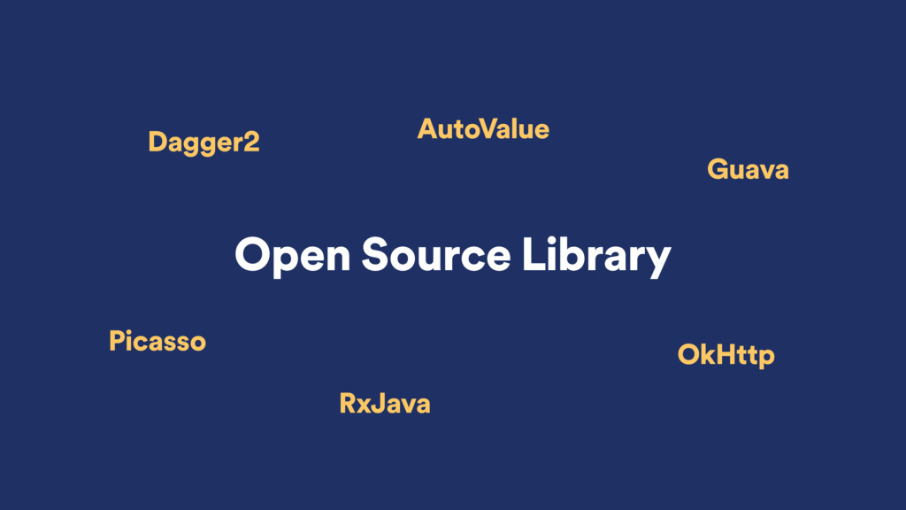 Open Source Library Dagger2 Picasso RxJava Auto...
