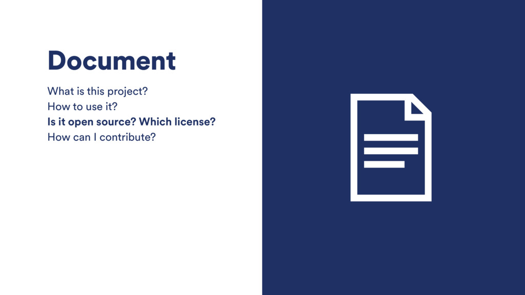 Document What is this project? How to use it? I...