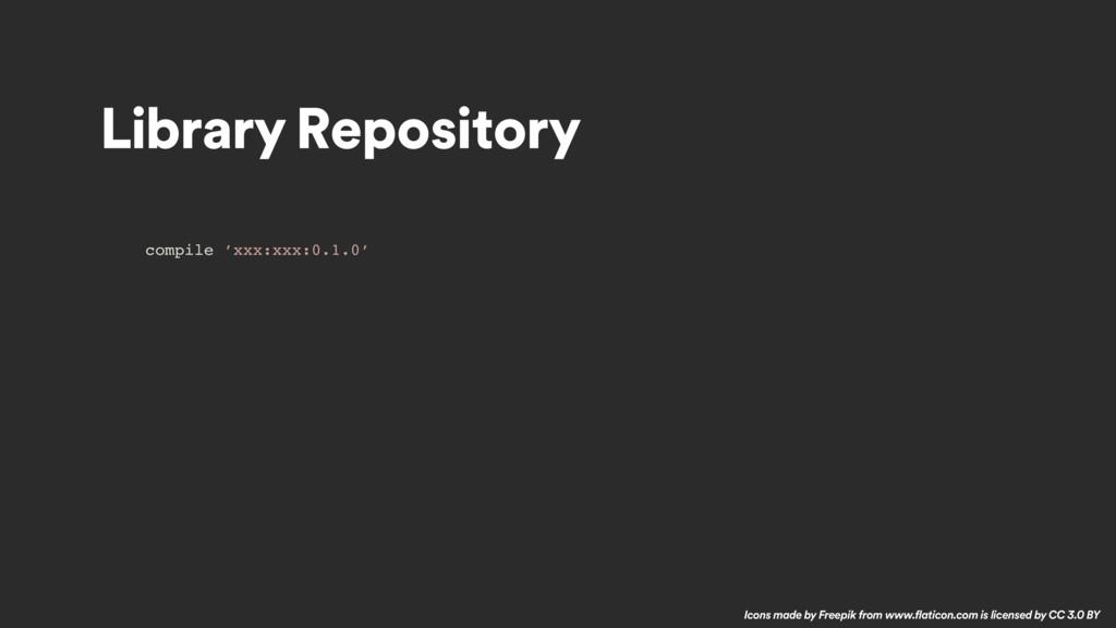 Library Repository compile 'xxx:xxx:0.1.0' Icon...