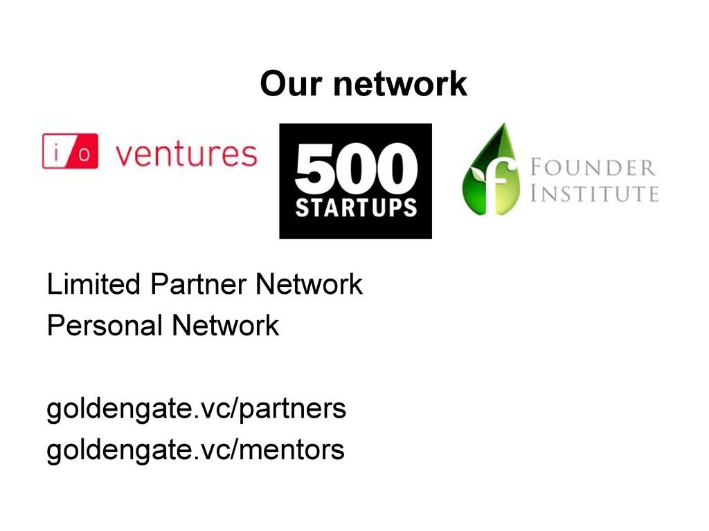 Our network Limited Partner Network Personal Ne...