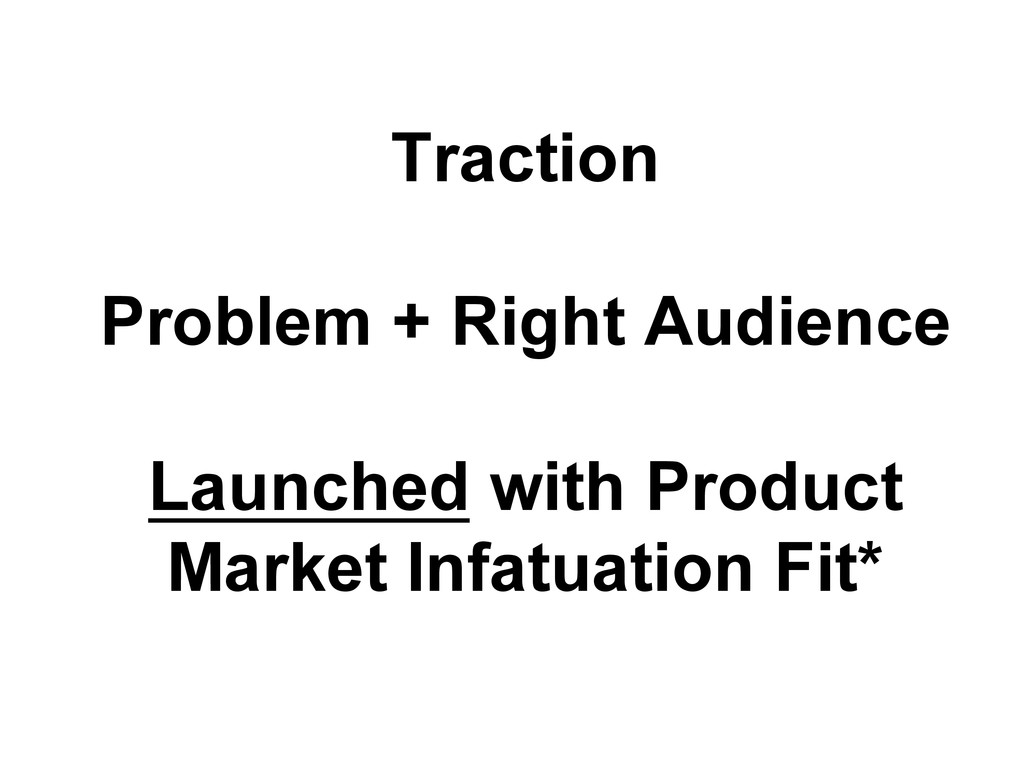 Traction Problem + Right Audience Launched with...