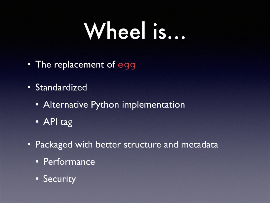 Wheel is… • The replacement of egg  • Standar...