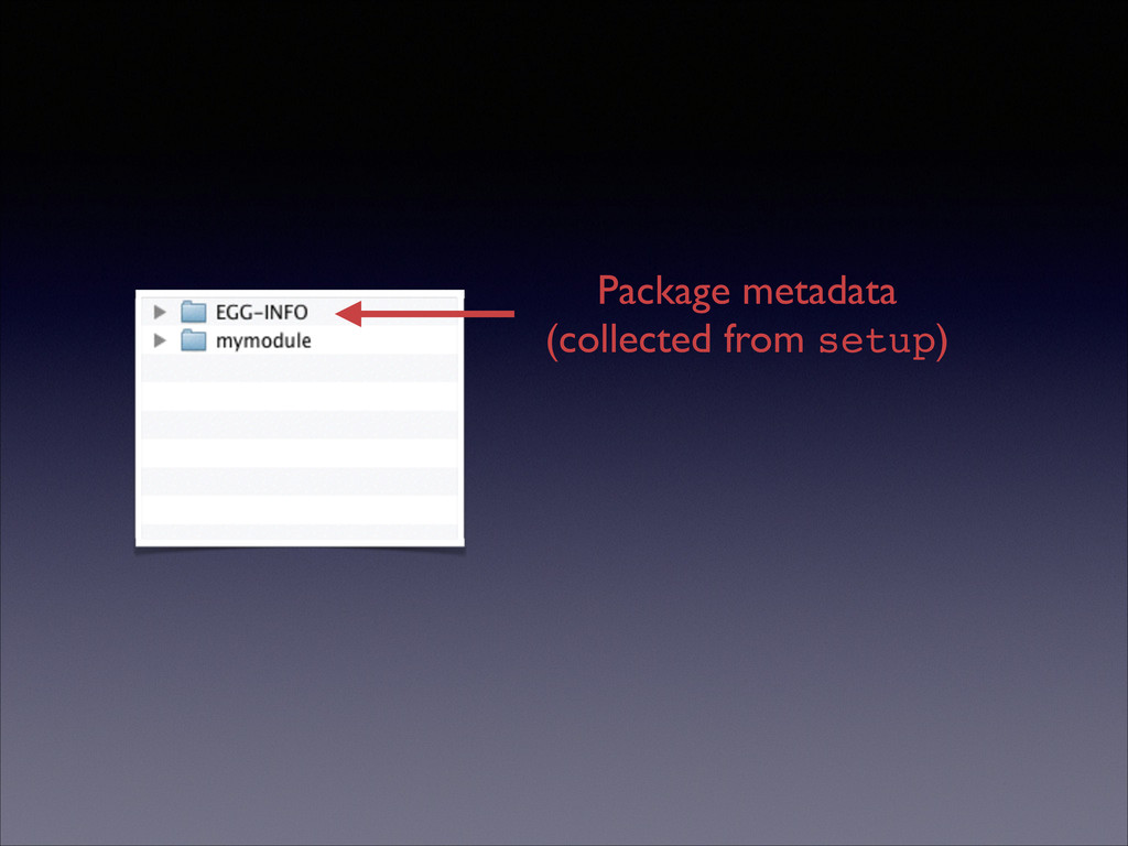 Package metadata  (collected from setup)