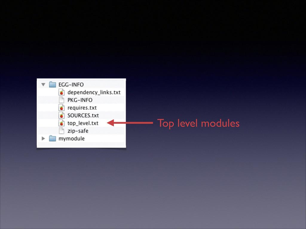 Top level modules