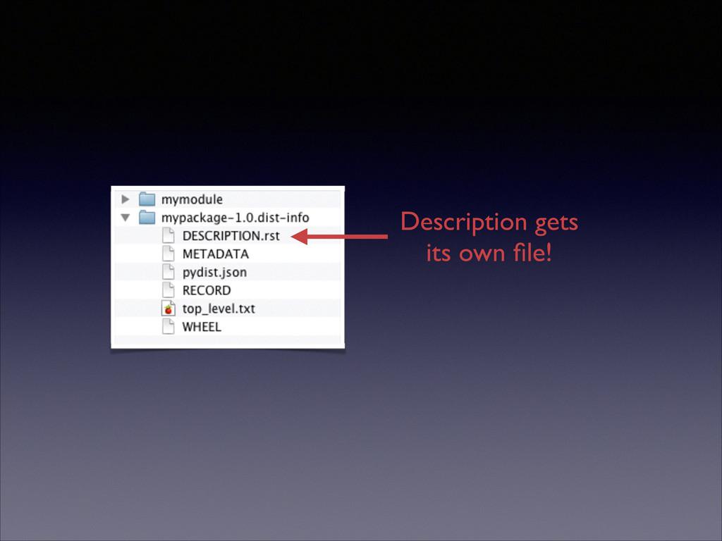 Description gets its own file!
