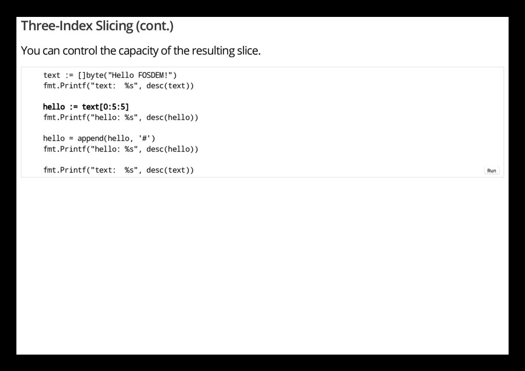 Three-Index Slicing (cont.) You can control the...
