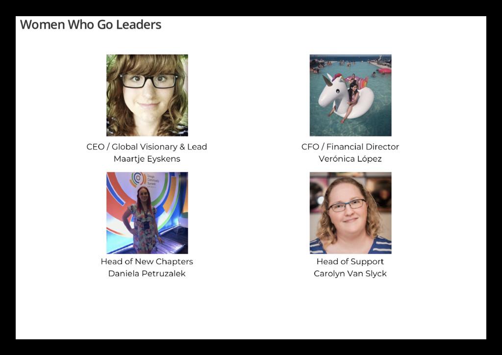 Women Who Go Leaders