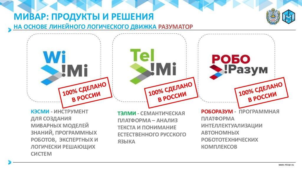 www.mivar.ru КЭСМИ - ИНСТРУМЕНТ ДЛЯ СОЗДАНИЯ МИ...