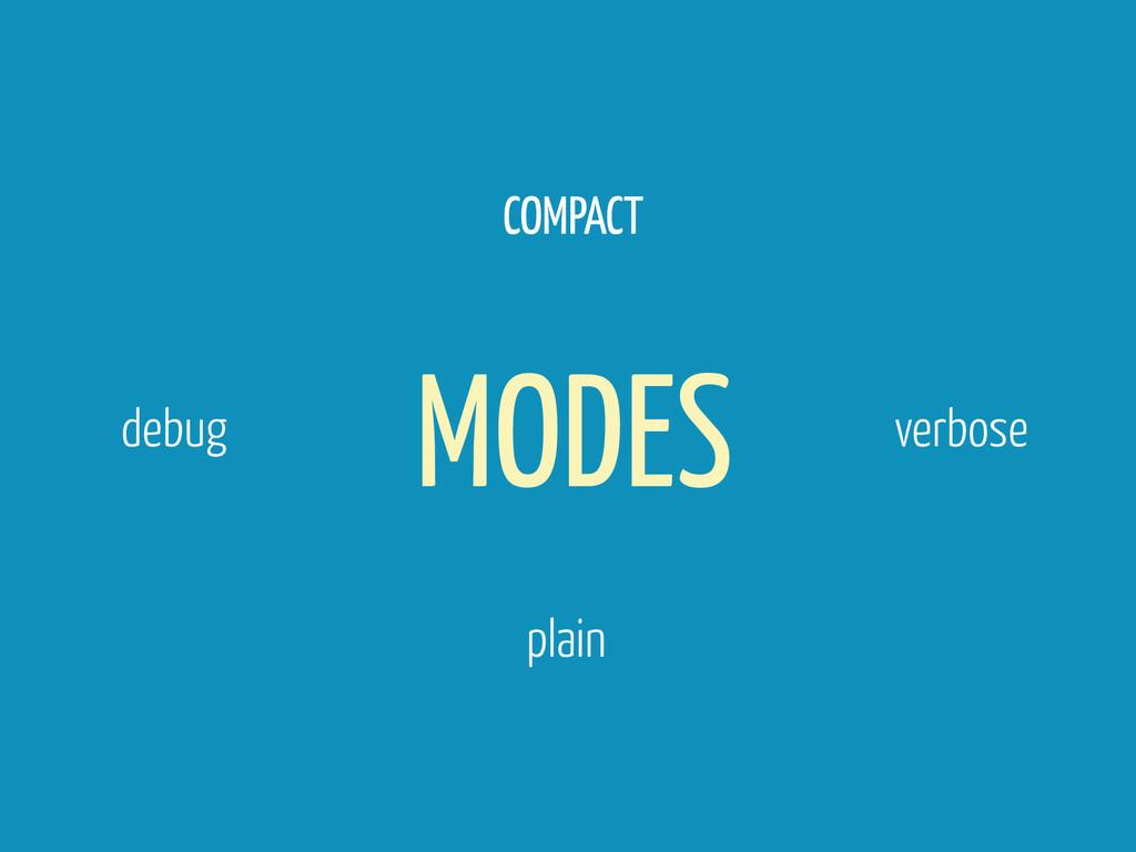 MODES COMPACT verbose debug plain